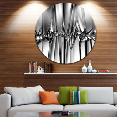 Design Art Black White Crystal Background AbstractRound Circle Metal Wall Art