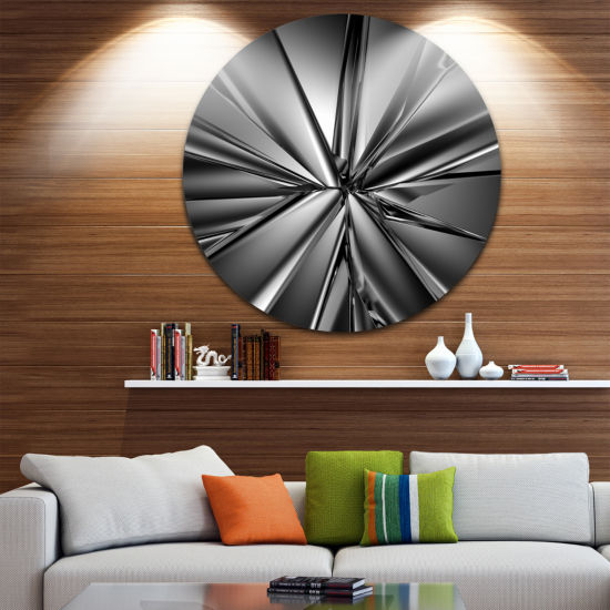 Design Art Futuristic Crystal Background AbstractRound Circle Metal Wall Art