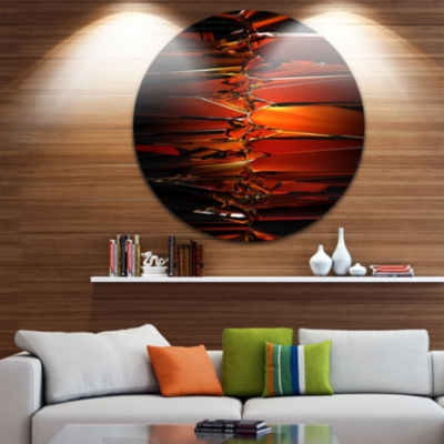 Design Art Colorful Abstract Glass Design AbstractRound Circle Metal Wall Art