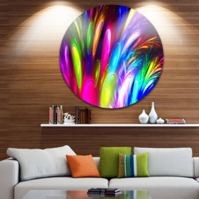 Design Art Mysterious Psychedelic Design AbstractRound Circle Metal Wall Art