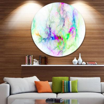 Design Art Stormy Sky Fierce Lightning Abstract Art on Round Circle Metal Wall Art Panel