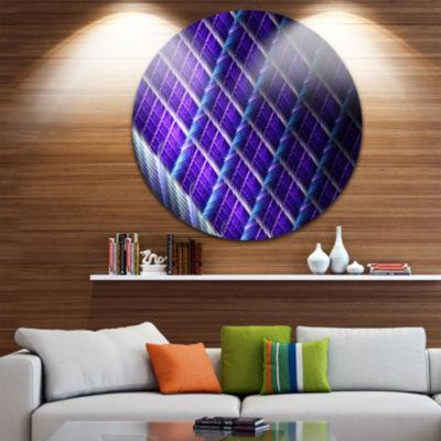 Design Art Light Purple Round Metal Grill AbstractArt on Round Circle Metal Wall Art Panel