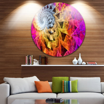Design Art Colorful Spiral Kaleidoscope Abstract Round Circle Metal Wall Art Panel