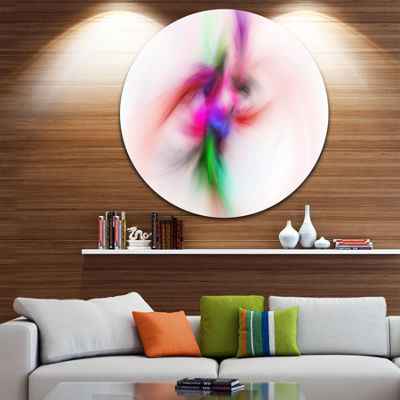 Design Art Colorful Electromagnetic Field AbstractRound Circle Metal Wall Art Panel