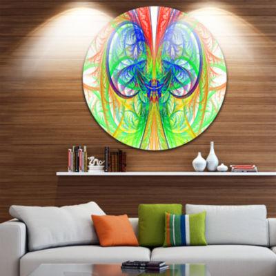Design Art Extraordinary Fractal Green Design Abstract Round Circle Metal Wall Art