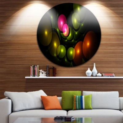 Design Art Multi Color 3D Surreal Circles AbstractRound Circle Metal Wall Art Panel
