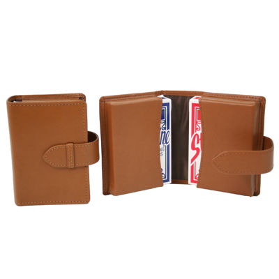 Royce Leather Double Decker Playing Card Set