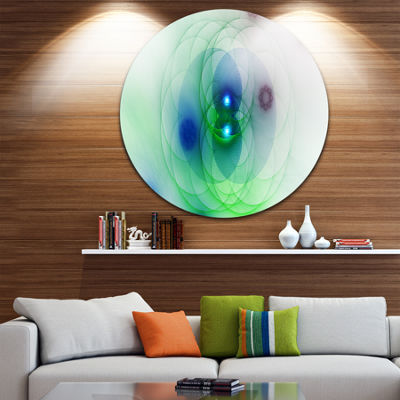 Design Art Merge Colored Spheres. Abstract Round Circle Metal Wall Decor