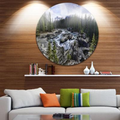 Design Art Natural Bridge in Yoho Disc Landscape Circle Metal Wall Art