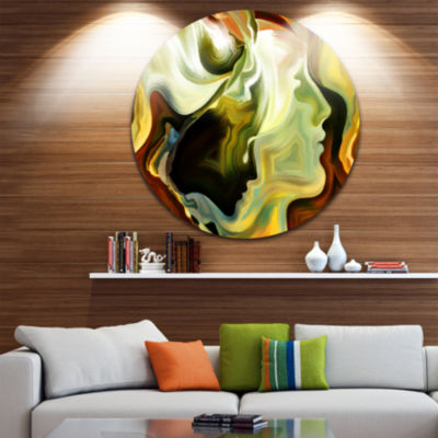 Design Art Metaphorical Inner Self Disc Abstract Circle Metal Wall Art
