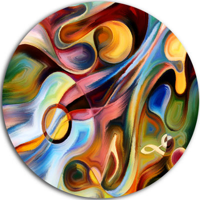Design Art Music beyond the Frames Music Circle Metal Wall Art