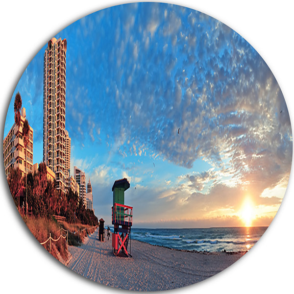 Design Art Miami South Beach Disc Photography Circle Metal Wall Art