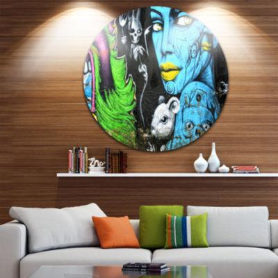 Design Art Mural Wall Art Disc Street Art Circle Metal Wall Art