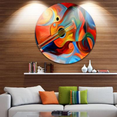 Design Art Music and Rhythm Abstract Metal CircleWall Art