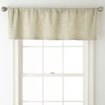 Royal Velvet Cassata Rod-Pocket Tailored Valance