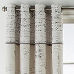 JCPenney Home Paris Jacquard Grommet-Top Curtain Panel