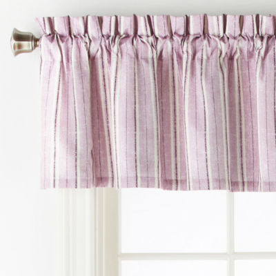 Home Expressions Rylan Rod-Pocket Tailored Valance