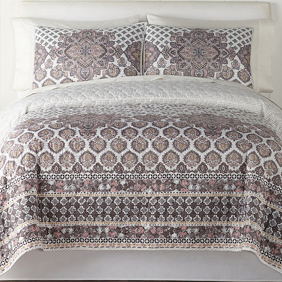 Home Expressions Modern Romance Medallion Quilt Set