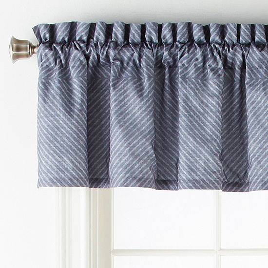 Home Expressions Bayport Rod-Pocket Tailored Valance