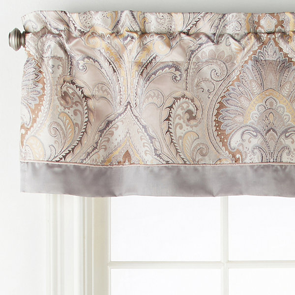JCPenney Home Lourdes Rod-Pocket Tailored Valance