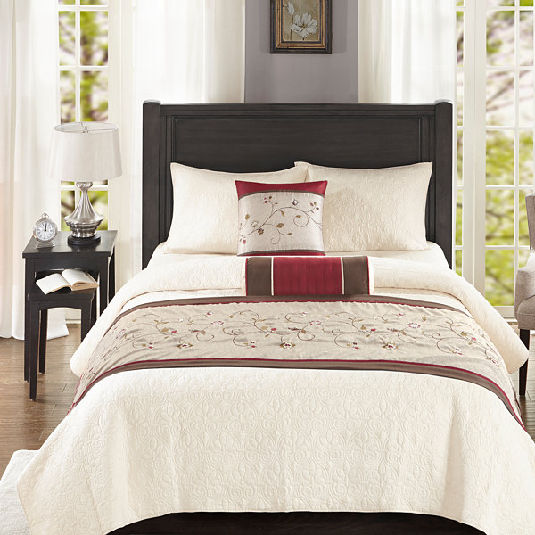 Madison Park Essentials Belle Bedscarf and Pillow Set