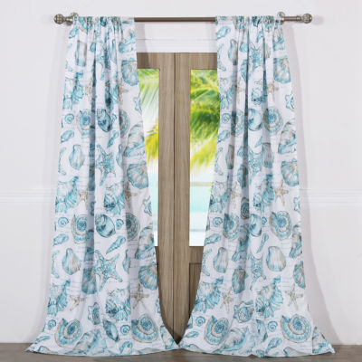 Barefoot Bungalow Cruz 2-Pack Tab-Top Curtain Panel