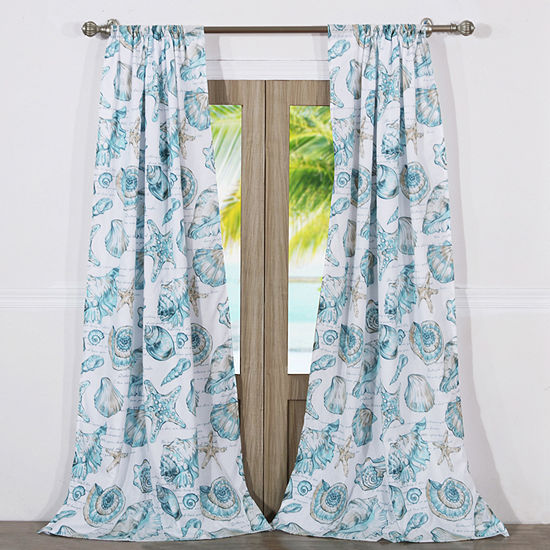 Barefoot Bungalow Cruz Rod Pocket Curtain Panel