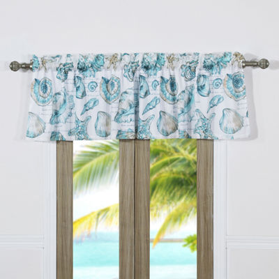 Barefoot Bungalow Cruz Tab-Top Scallop Valance
