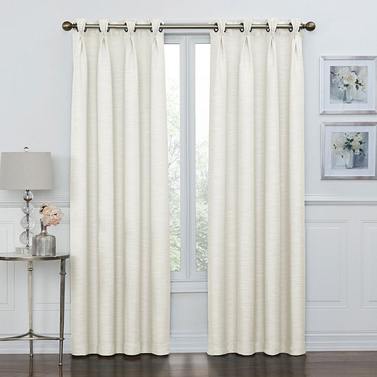 Coronado 100% Blackout Pinch Pleat Grommet-Top Curtain Panel