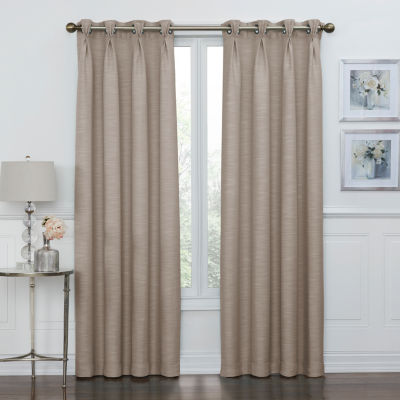 Coronado 100% Blackout Pinch Pleat Grommet-Top Curtain Panel