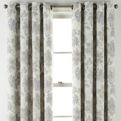 JCPenney Home Sullivan Floral Bo Blackout Grommet-Top Curtain Panel