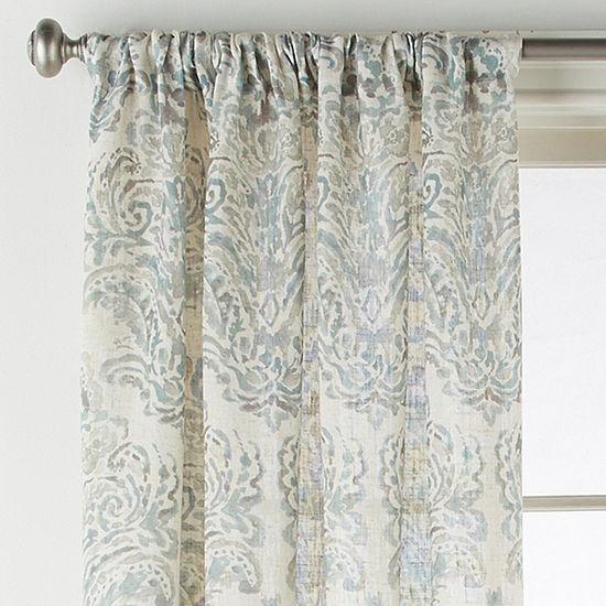 JCPenney Home Santorini Light-Filtering Rod-Pocket Curtain Panel