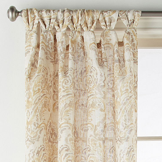 JCPenney Home Santorini Light-Filtering Tab-Top Curtain Panel