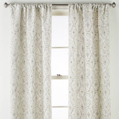 Home Expressions Tribal Diamond 2-Pack Rod-Pocket Curtain Panel