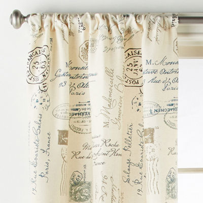 Home Expressions Script 2-Pack Rod-Pocket Curtain Panel