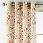JCPenney Home Verona Tamsin Light-Filtering Grommet-Top Curtain Panel