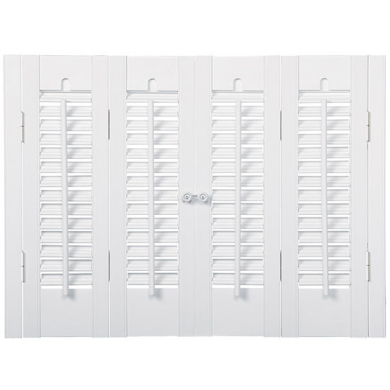 JCPenney Home™ Faux-Wood Traditional Shutters – 4 Panels