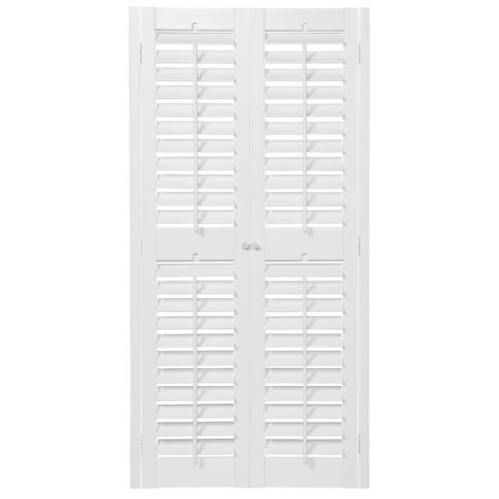 JCPenney Home Faux Wood Plantation Shutters With Mid Rail