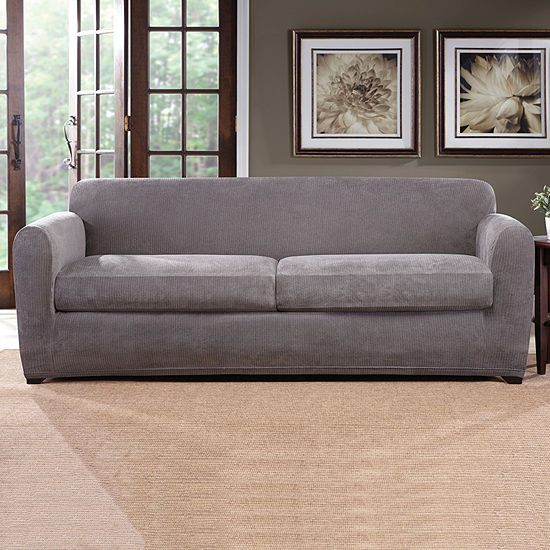 Sure Fit Ultimate Stretch Chenille 3 Piece Sofa Slipcover