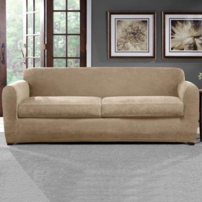 Sure Fit Ultimate Stretch Chenille 3 Piece Sofa Slipcover