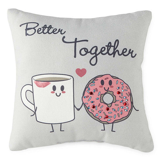 Home Expressions Better Together Square Throw Pillow