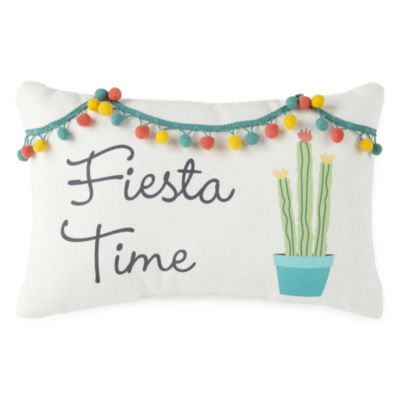Home Expressions Fiesta Time Square Throw Pillow