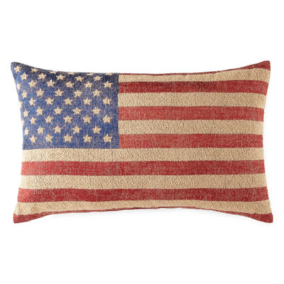 JCPenney Home Americana Flag Rectangular Throw Pillow