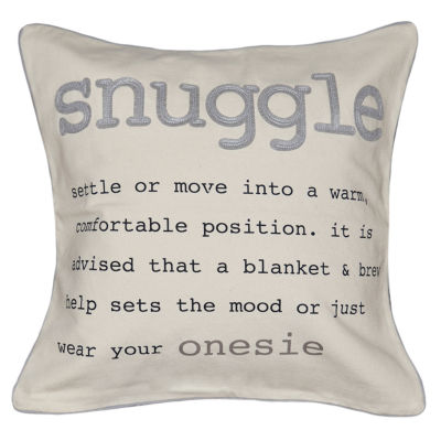 Snuggle Square Throw Pillow