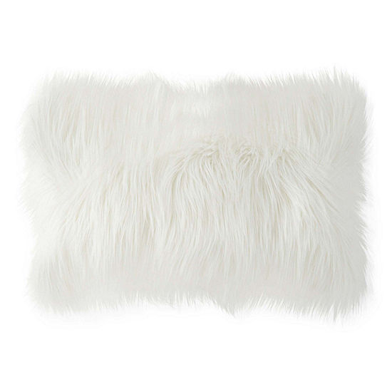 Home Expressions Faux Fur Rectanular Throw Pillow