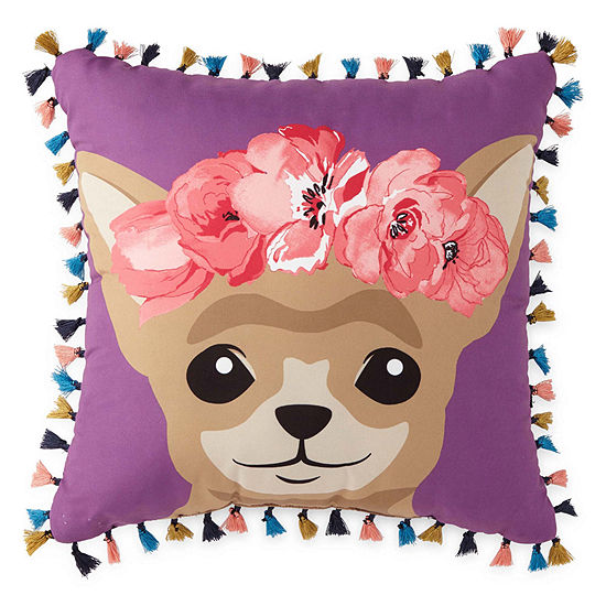 Home Expressions Chihuahua Square Throw Pillow
