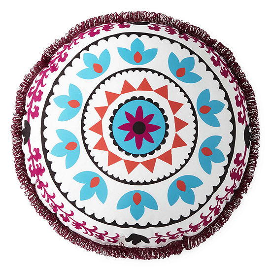 Home Expressions Round Medallion Pillow