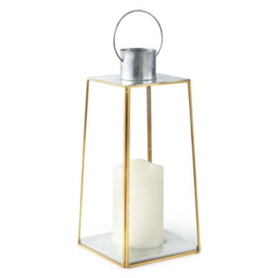 JCPenney Home Gold Frame LED Lantern