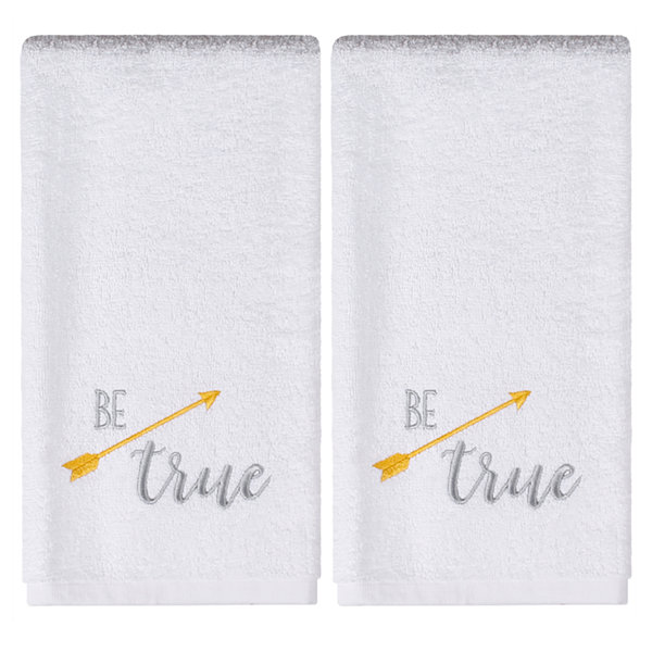 Saturday Knight Be True 2-pc. Embroidered Hand Towel Set