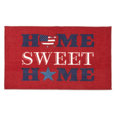 """JCPenney Home """"Home Sweet Home"""" Rectangular Rug"""